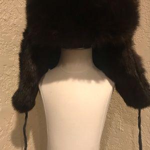 Other - Genuine fur trapper hat